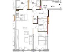 Wohnung WE05, 3-Raum