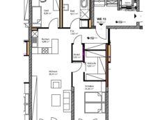 Wohnung WE13, 3-Raum