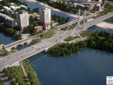 Lage Baugrundstück und neue Brücke Heumarkt